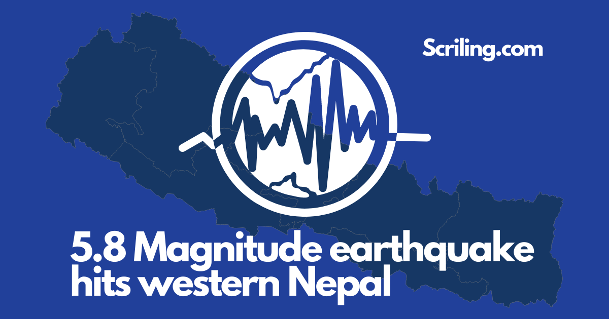 West Nepal is shaken by a 5.8-magnitude earthquake