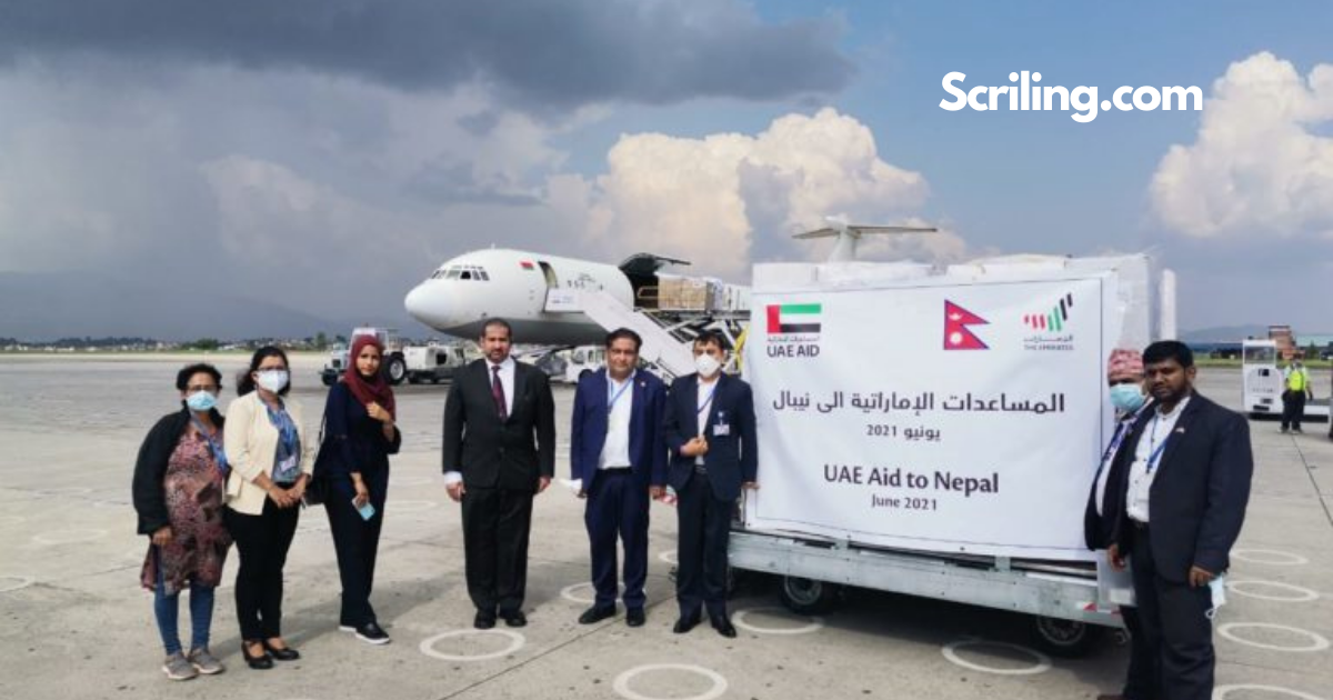 Nepal receives medical assistance from the UAE, including 150 ventilators