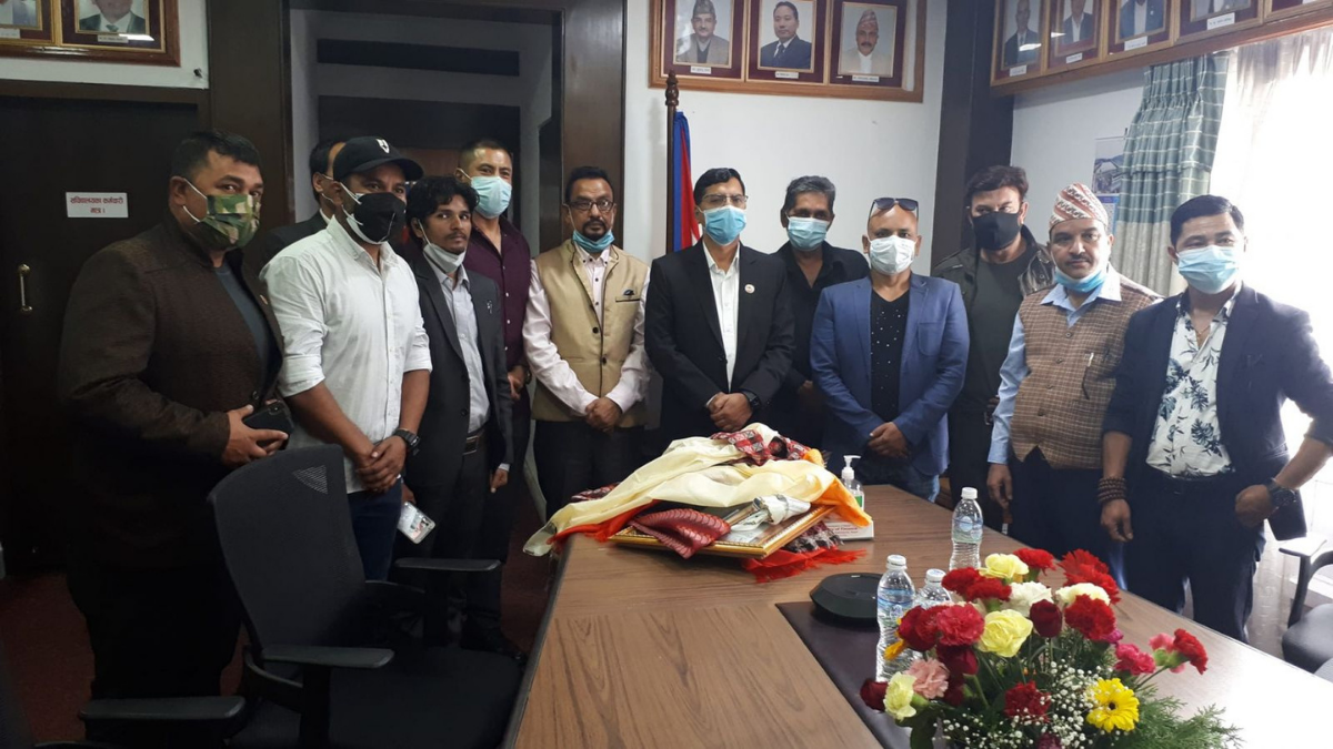 Nepali Artists requests for vaccines to Finance Minister