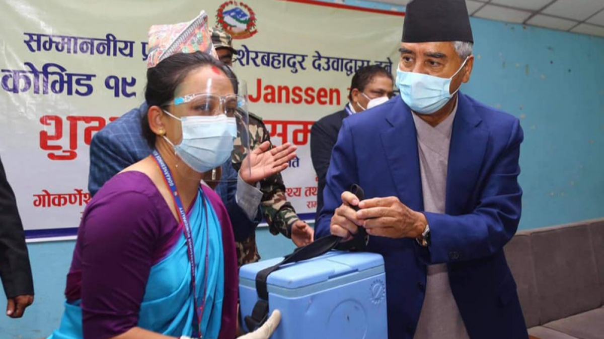 Prime Minister Sher Bahadur Deuba starts US-funded vaccine campaign