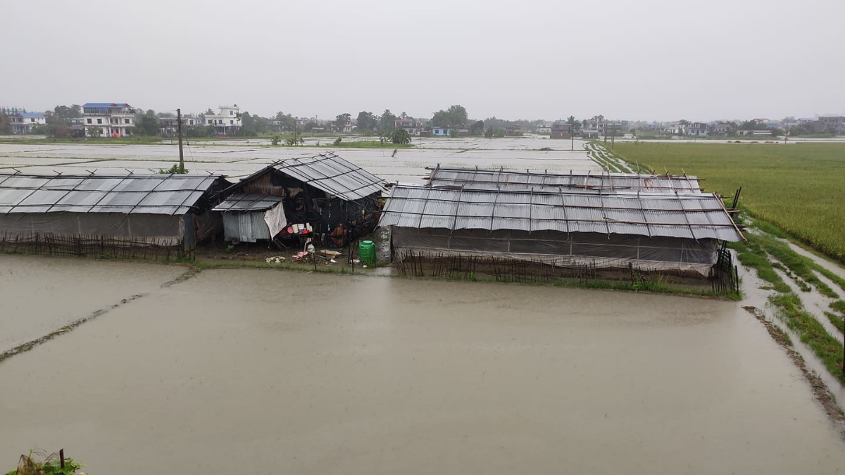 Most areas of Sunsari inundated due to continuous rains and Flood