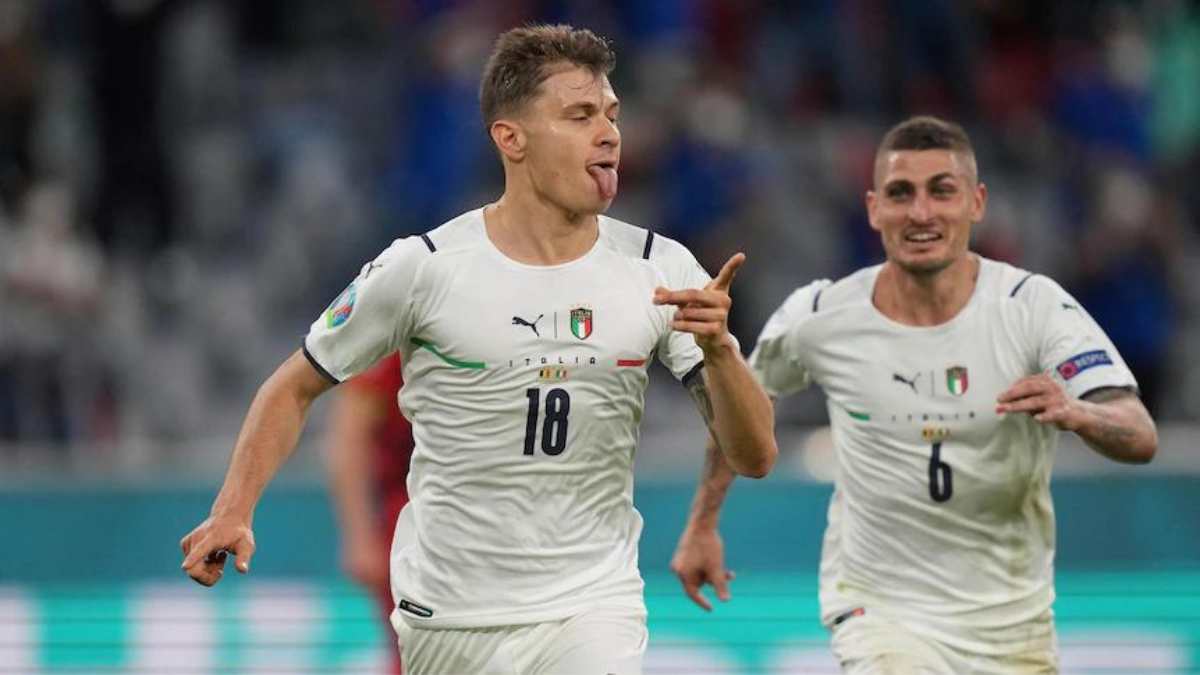 Italy in the semifinals, Belgium out