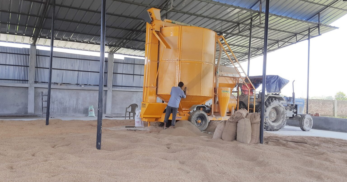 Farmers excited about bringing the dryer machine to Gauradaha Jhapa