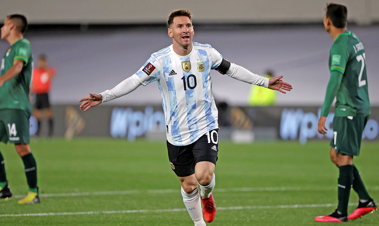 Argentina wins with Lionel Messi's hat-trick